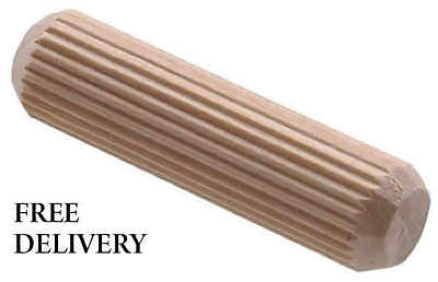Wooden Dowels Hardwood Multigroove Chamfered Fluted Woodwork Pegs