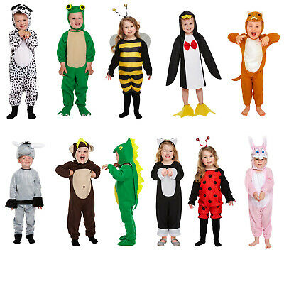 Animal Toddler Fancy Dress Kids Playsuit Costume Girls Boys Party Outfit Age 3+
