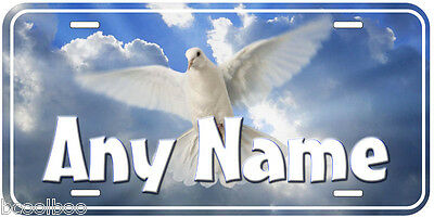 Peace Dove Any Name Personalized Novelty Car Auto License Plate
