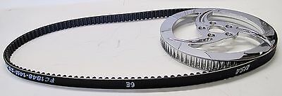 """Boyds 1"""" Chrome Pulley & Gates Drive Belt Kit For Harley Custom Wide Tire"""