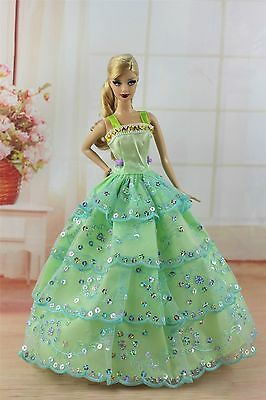 Green Fashion Princess Dress Wedding Clothes/Gown For 11.5in.Doll F42