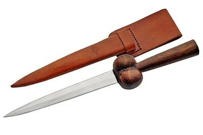 "Celtic Scottish Bollock Dagger Sgian Skean Dubh Dirk 12.5"" Knife Fast Shipping"