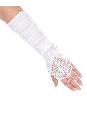"""The Communion Collection Big Girls' """"Beads & Blossoms"""" Mitts (Sizes 7 - 16)"""