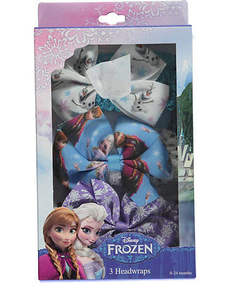 "Disney Frozen Baby Girls' ""Bow Medley"" 3-Pack Headwraps"