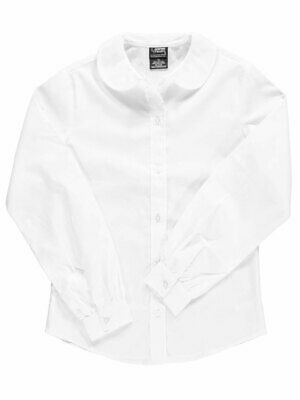 French Toast Big Girls' L/S Peter Pan Blouse (Sizes 7 - 20)