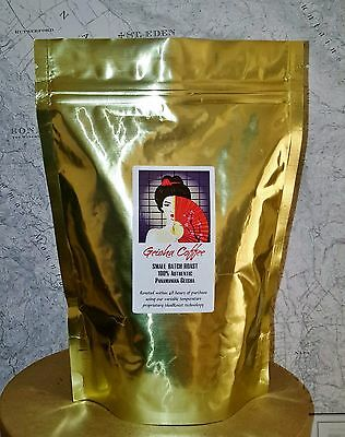 Rated 96 pts 100% Authentic Panama Geisha Reserve coffee beans 8 oz. FRESH ROAST