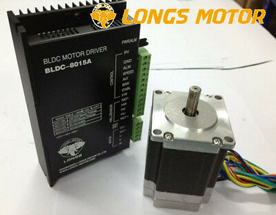 1axis 57BLF03 Brushless DC Motor 250W 24V Nema 23  DRIVER BLDL-8015 CNC Router