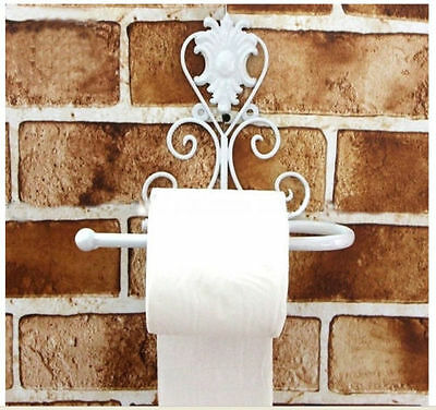 New White Color Bathroom Toilet Paper Holder Wall Mount Roll Tissue Paper Holder