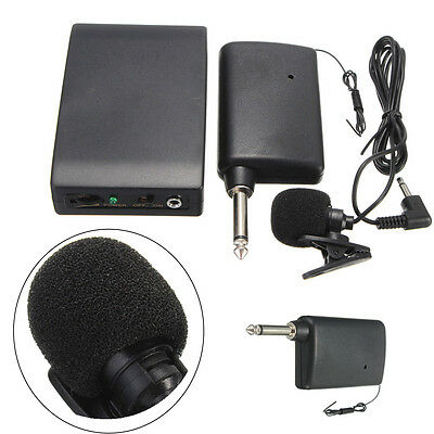 BOLUN WR-601 Mini Wireless Transmitter Receiver Set Kit Clip on Mic Microphone