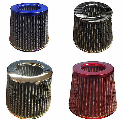 Universal Car Air Filter Induction Kit Sports Mesh Cone Modify Multi Coloured