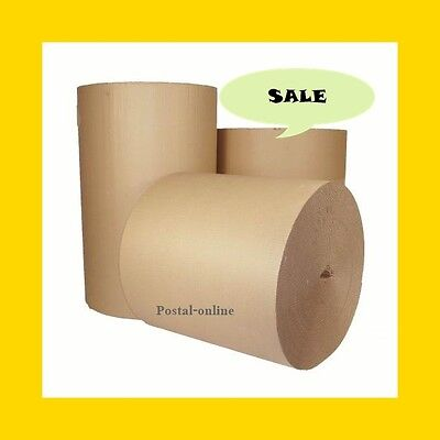 SALE 750mm 30'' x 75 M CORRUGATED STRONG CARDBOARD PAPER ROLLS packaging parcel