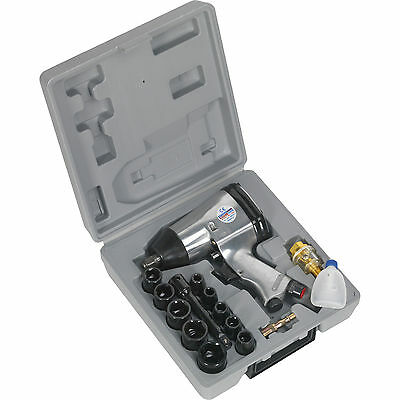 """Sealey 1/2"""" Drive Air Impact Wrench Kit with Sockets"""