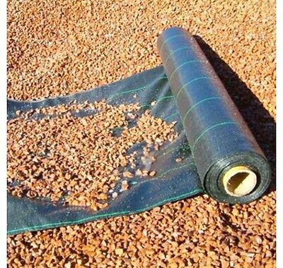4 Metre WIDE WEED CONTROL LANDSCAPE DRIVEWAY GROUND FABRIC MEMBRANE 100gsm