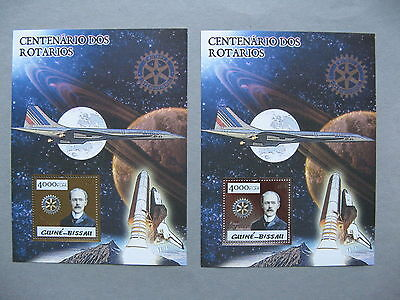 GUINEA-BISSAU, 2x S/S 2005 MNH, Rotary spaceshuttle Concorde