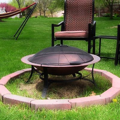 Portable Cast Iron Bowl Fire Pit with Copper Finish by Sunnydaze SEE VIDEO