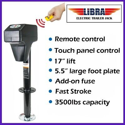 3500lbs Trailer/RV Electric Power Tongue Jack with Remote Control & 7-Way Plug