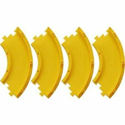 Takara Tomy Tomica World Road System D-02 accessory 4X Curve Slope R Yellow Set