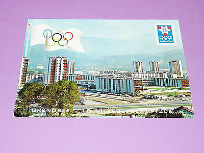 Cpa Carte Postale Jeux Olympiques Grenoble 1968 J.o. Hiver Village Olympique