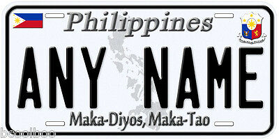 Philippines Any Name Personalized Novelty Car License Plate A1