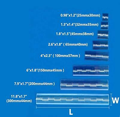 Clear Acrylic Plastic Piano Continuous Hinge Perspex Transparent Lot of