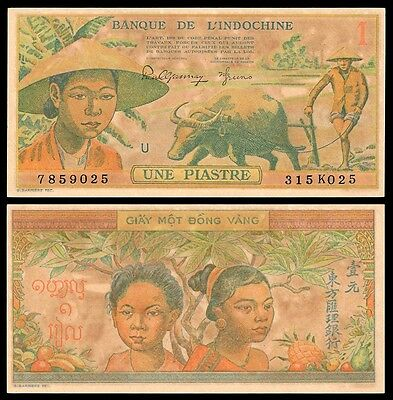 French Indochina 1 PIASTRE ND 1949 P 74 UNC