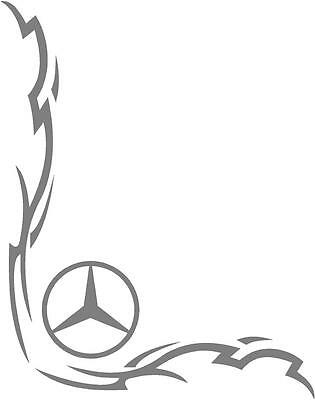 Mercedes Truck Tribal style cab side window stickers (pair)
