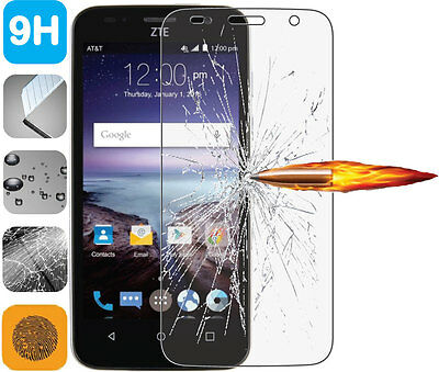 Tempered Glass 9H LCD Screen Protector Guard for ZTE Maven (Overture 2) Z812