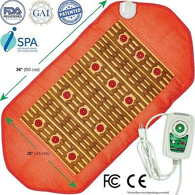 Natural Yellow Clay (Mud) Photon Negative Ions FIR InfraRed Heating Healing Pad