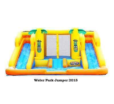 Tropical Bounce House Inflatable Amusement Park Waterslide Pool Wet/Dry Jumper
