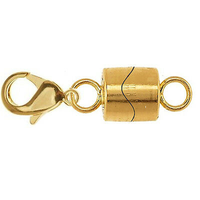 Strong 925 Sterling Silver Magnetic Clasp gold plated for Necklace, bracelet z
