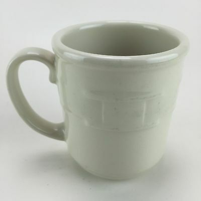 """Retired RARE Longaberger Ivory Cream  3"""" Coffee Cup Made in USA"""