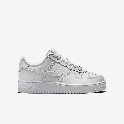 New Nike Youth Air Force 1 Low GS Kid's Shoes (314192-117)  White/White