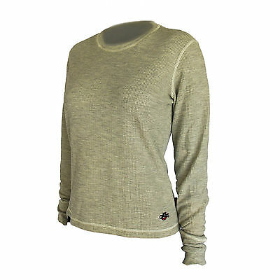 Hot Chillys Womens Base Layer Thermal Crewneck Top Natural Grey HC5046 Size XL