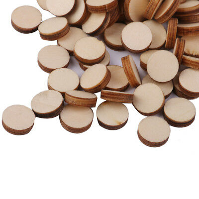 100 Wood Tag Circle Round Pieces Painting Craft Cardmaking Scrapbooking 10mm