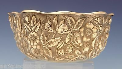 Repousse by Whiting Sterling Silver Fruit Bowl w/Lobed Scalloped Edge (#0572)