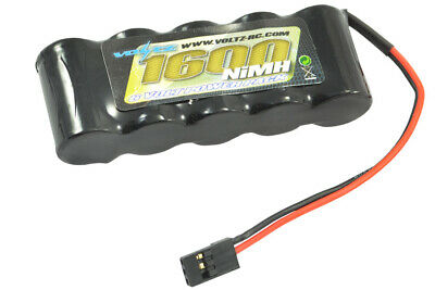 Voltz 5 cell 6v 1600mah Receiver Straight Battery Pack