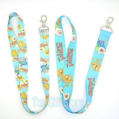 Cute Adventure.Time Lanyard Keys ID Neck Strap