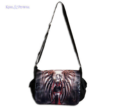 "Anne Stokes Messenger Bag: ""Avenger"" Gothic Steampunk Angel"