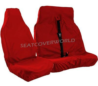 Ford Transit - Xtra Heavy Duty Red Waterproof Van Seat Covers 2+1