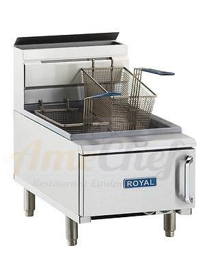 New Commercial/Restaurant Gas Fryer, Countertop, 25 Lbs, ROYAL RCF-25