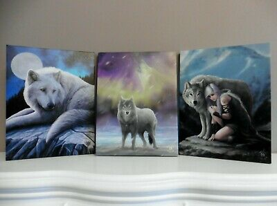 'guardian Of The North'  Lisa Parker Wolf Design Canvas Wall Plaque ~ Print