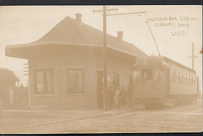 America Postcard - Interurban Railway Station, Convoy, Ohio    MB579