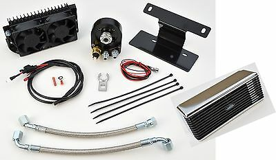 UltraCool Chrome The Reefer Oil Cooler Fan Engine Cooling System Harley Dyna FXD