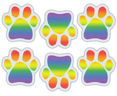 Mini Dog Paw Magnets (Set of 6) - Rainbow Color Paws - GLBT, LGBT -  Cars