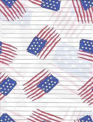 ac43e5d370c3 AMERICAN FLAG LINED Stationery Writing Paper Set
