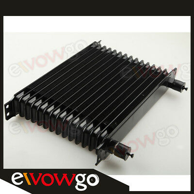 Universal 15 row -10AN Engine transmission Oil Cooler Trust Style Black