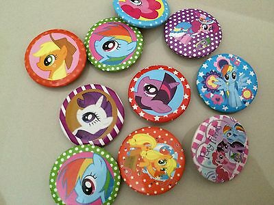 5pcs PONY 30mm Cartoon Plastic Badge Brooch Pin Birthday Party Lolly Bag Gift