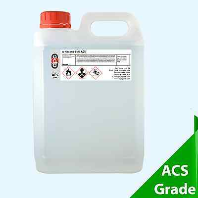 5L Hexane 95% (n-hexane) 5 Litre ** Next Day Delivery by ADR Approved Courier**
