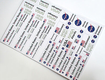 NASA SPACE SHUTTLE STICKERS LOT for LEGO 10231 10213 60081 30315 3367 ETC +++