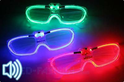 LED Brille Geräuschaktiviert  -Soundaktivierte Party Brille mit LEDs sound Musik
